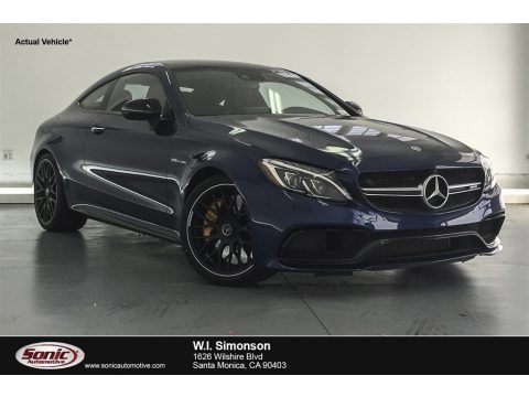 Brilliant Blue Metallic 2018 Mercedes-Benz C 63 S AMG Coupe