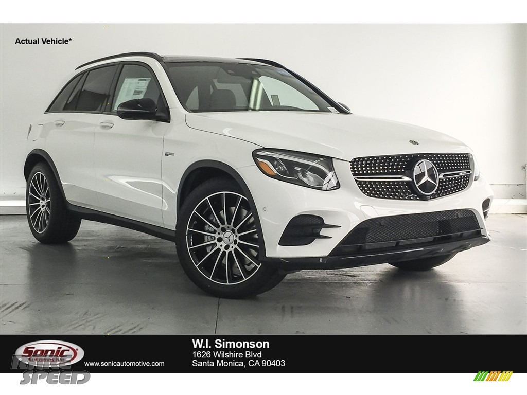 2018 GLC AMG 43 4Matic - Polar White / designo Platinum White Pearl/Black photo #1