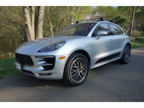 Rhodium Silver Metallic 2015 Porsche Macan Turbo
