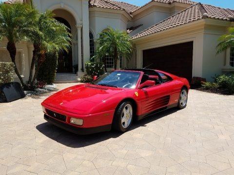 Red 1992 Ferrari 348 TS