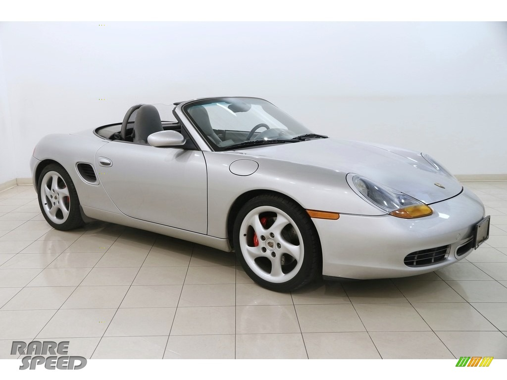 2000 Boxster S - Arctic Silver Metallic / Graphite Grey photo #1