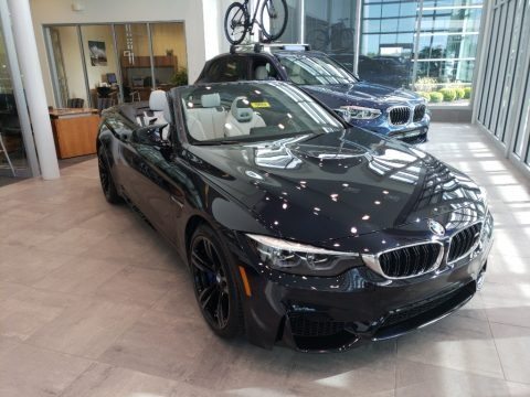 Azurite Black Metallic 2018 BMW M4 Convertible