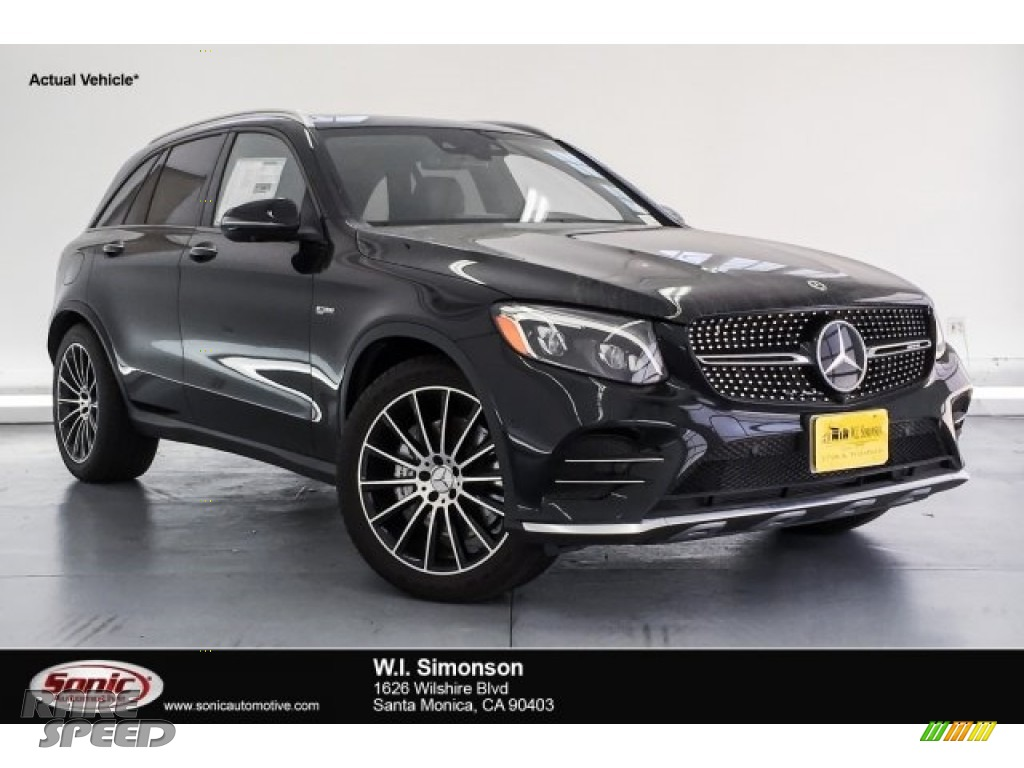 2018 GLC AMG 43 4Matic - Black / Saddle Brown/Black photo #1