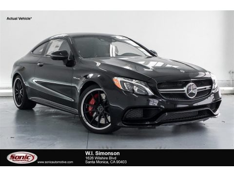 Obsidian Black Metallic 2018 Mercedes-Benz C 63 S AMG Coupe