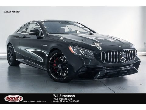 Black 2018 Mercedes-Benz S AMG S63 Coupe