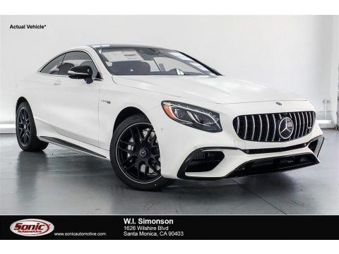 designo Cashmere White (Matte) 2018 Mercedes-Benz S AMG S63 Coupe