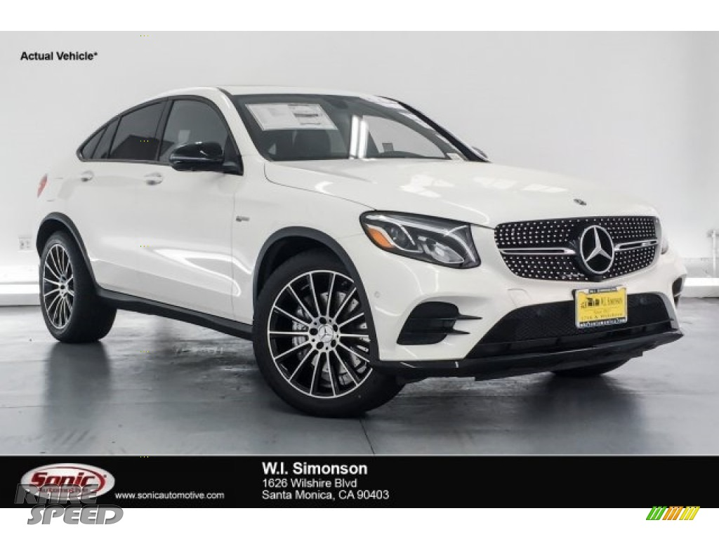 designo Diamond White Metallic / Black Mercedes-Benz GLC AMG 43 4Matic Coupe