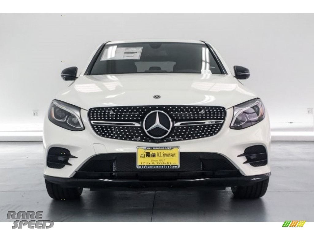 2018 GLC AMG 43 4Matic Coupe - designo Diamond White Metallic / Black photo #2