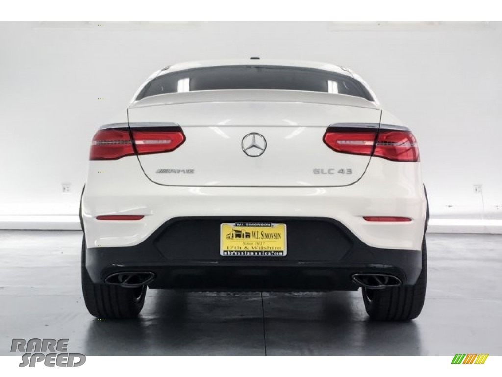 2018 GLC AMG 43 4Matic Coupe - designo Diamond White Metallic / Black photo #3