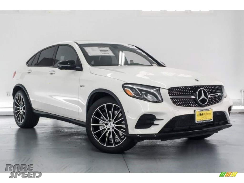 2018 GLC AMG 43 4Matic Coupe - designo Diamond White Metallic / Black photo #12