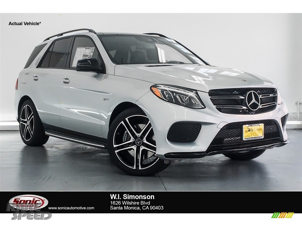 2018 GLE 43 AMG 4Matic - Iridium Silver Metallic / Black photo #1