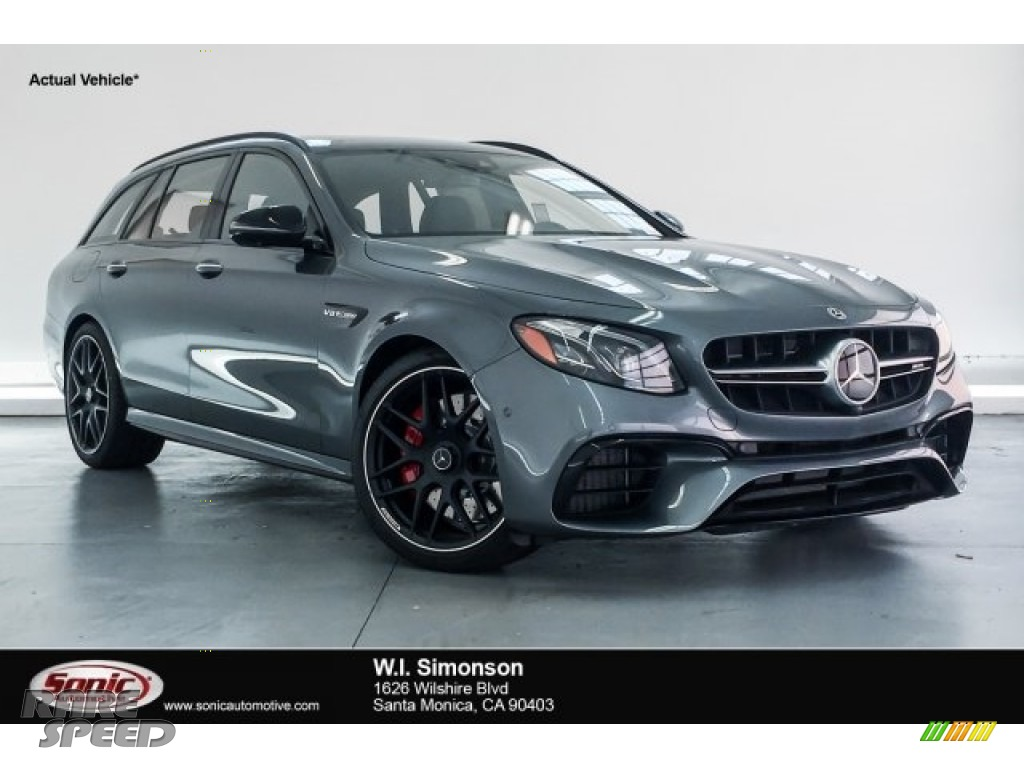 Selenite Grey Metallic / Black Mercedes-Benz E AMG 63 S 4Matic Wagon