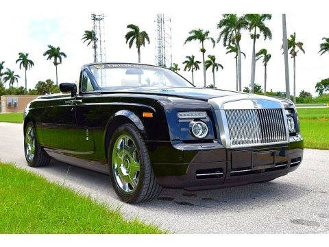 Diamond Black 2008 Rolls-Royce Phantom Drophead Coupe