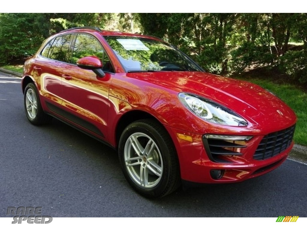 Carmine Red / Black Porsche Macan