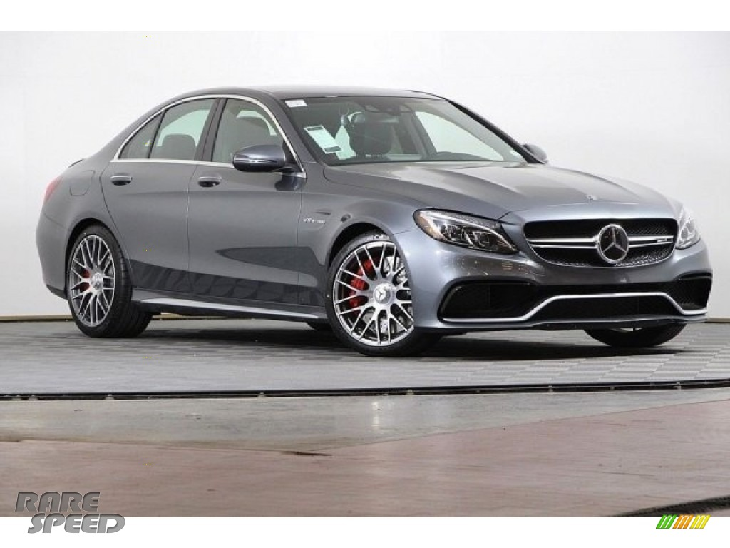2018 C 63 S AMG Sedan - Selenite Grey Metallic / Red Pepper/Black photo #1