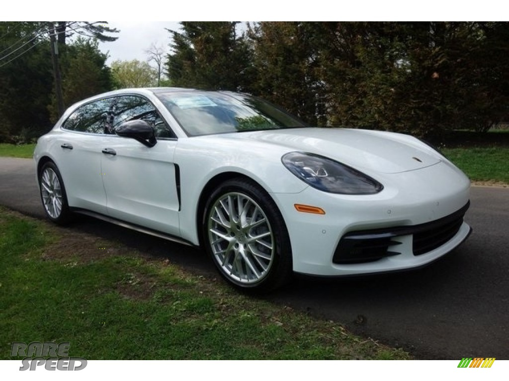 2018 Panamera 4S Sport Turismo - White / Black/Luxor Beige photo #1