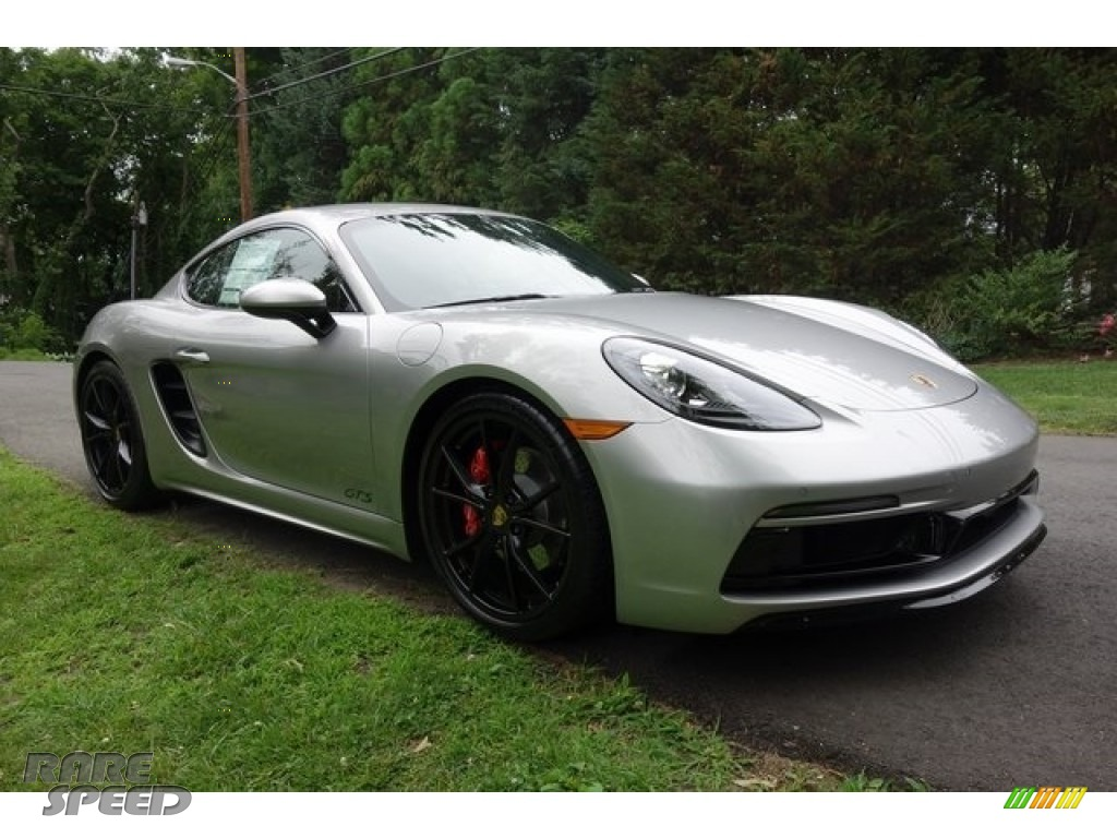 2018 718 Cayman GTS - GT Silver Metallic / Black/Bordeaux Red photo #1