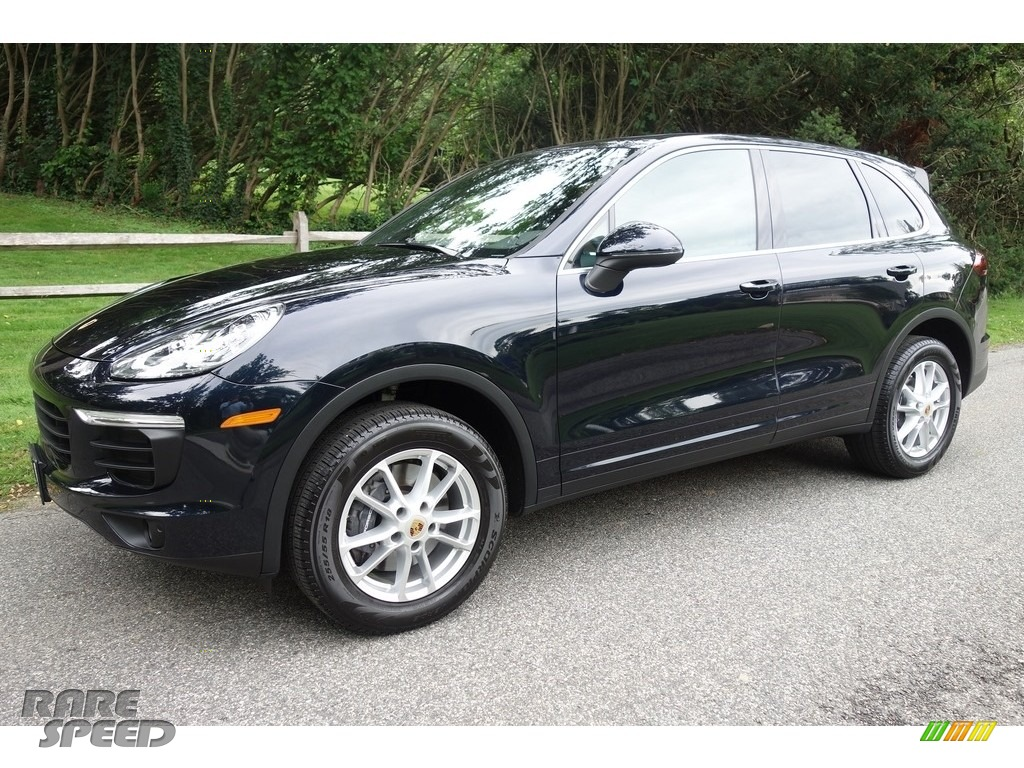 2016 Cayenne  - Moonlight Blue Metallic / Black/Luxor Beige photo #1