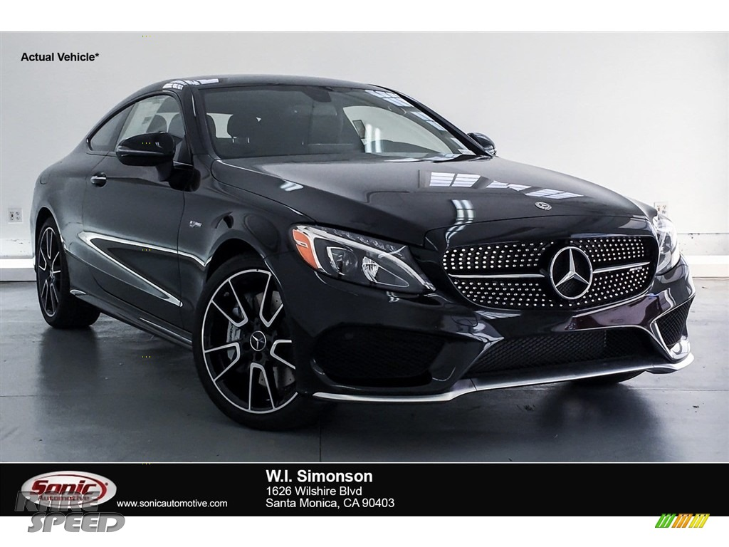 2018 C 43 AMG 4Matic Coupe - Black / Black photo #1