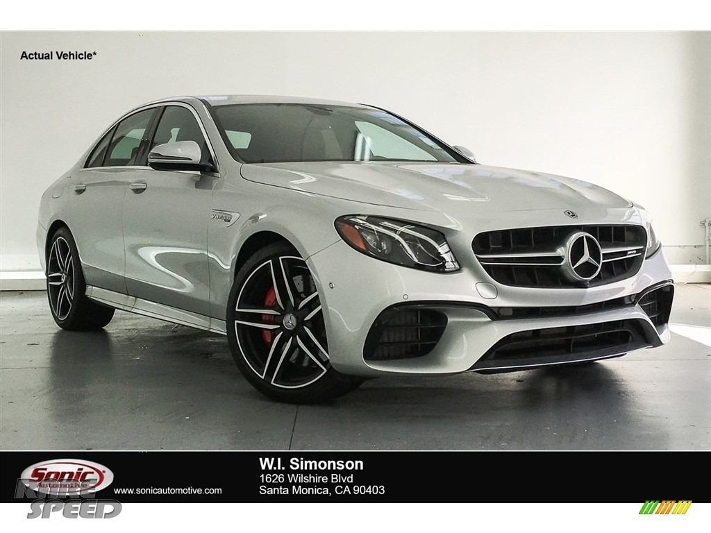 2018 E AMG 63 S 4Matic - Iridium Silver Metallic / Black photo #1