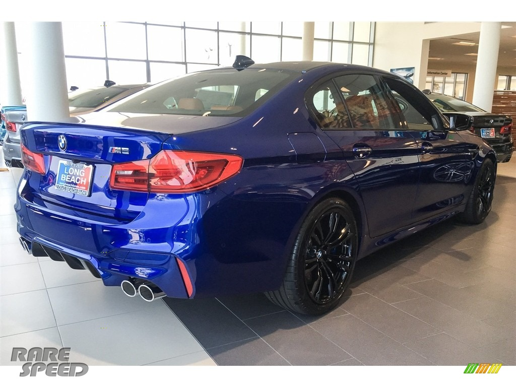 2018 M5 Sedan - Marina Bay Blue Metallic / Aragon Brown photo #3