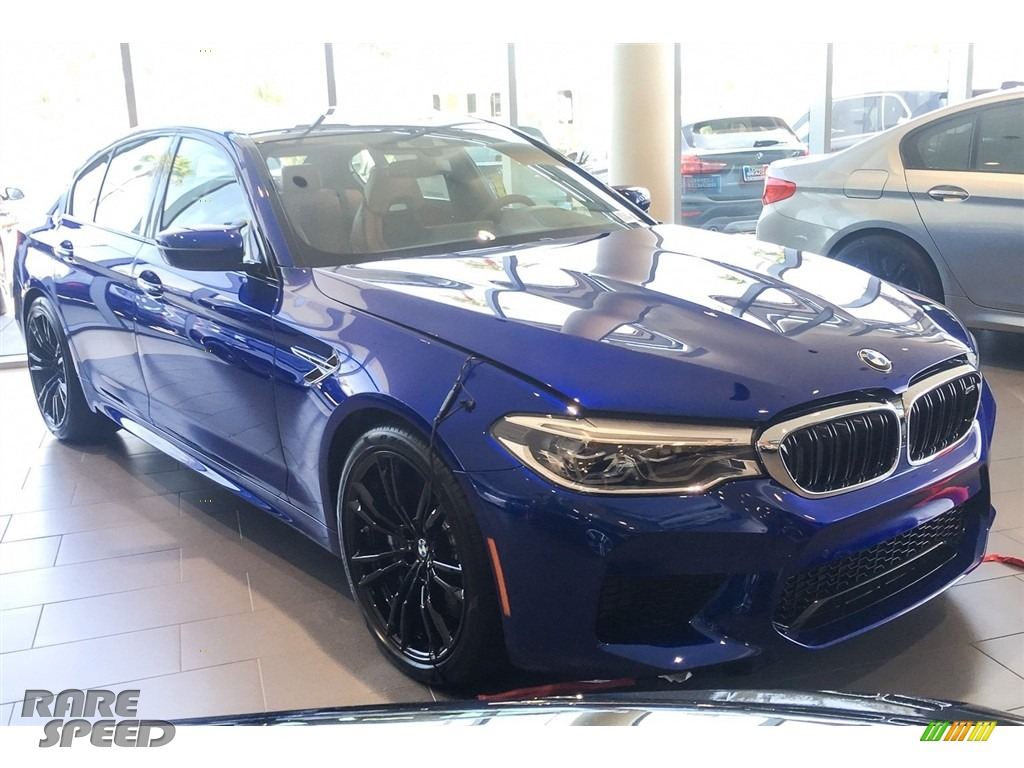 2018 M5 Sedan - Marina Bay Blue Metallic / Aragon Brown photo #12