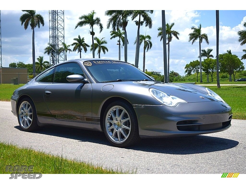 2002 911 Carrera Coupe - Seal Grey Metallic / Graphite Grey photo #1