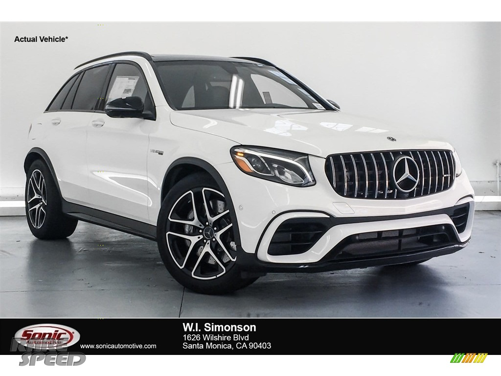 Polar White / Black Mercedes-Benz GLC AMG 63 4Matic
