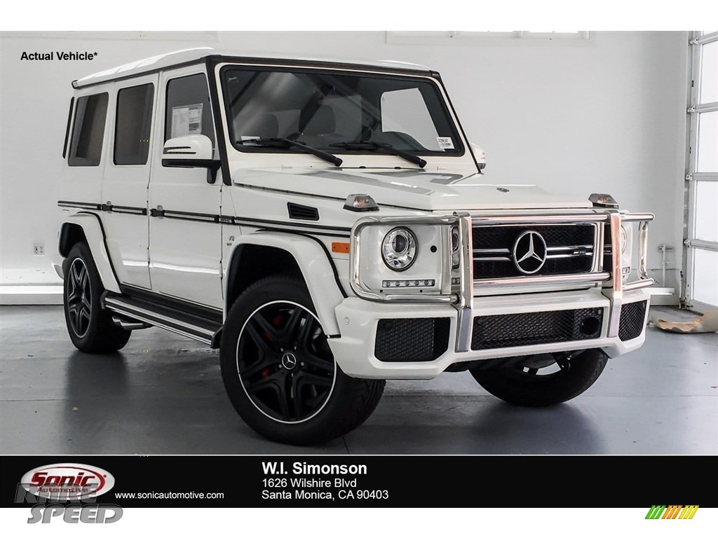 2018 G 63 AMG - designo Manufaktur Mystic White / designo Light Brown photo #1