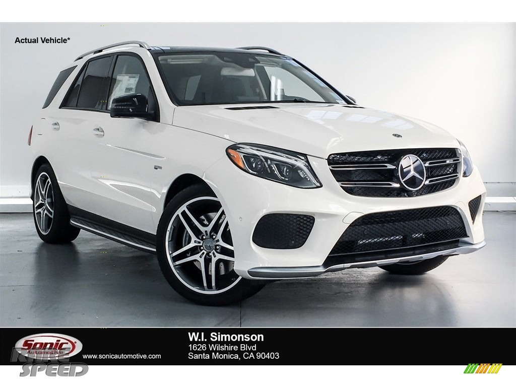 2018 GLE 43 AMG 4Matic - designo Diamond White Metallic / Porcelain/Black photo #1