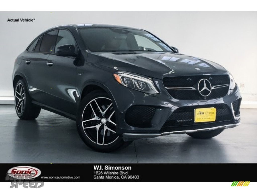 Steel Grey Metallic / Saddle Brown/Black Mercedes-Benz GLE 450 AMG 4Matic Coupe