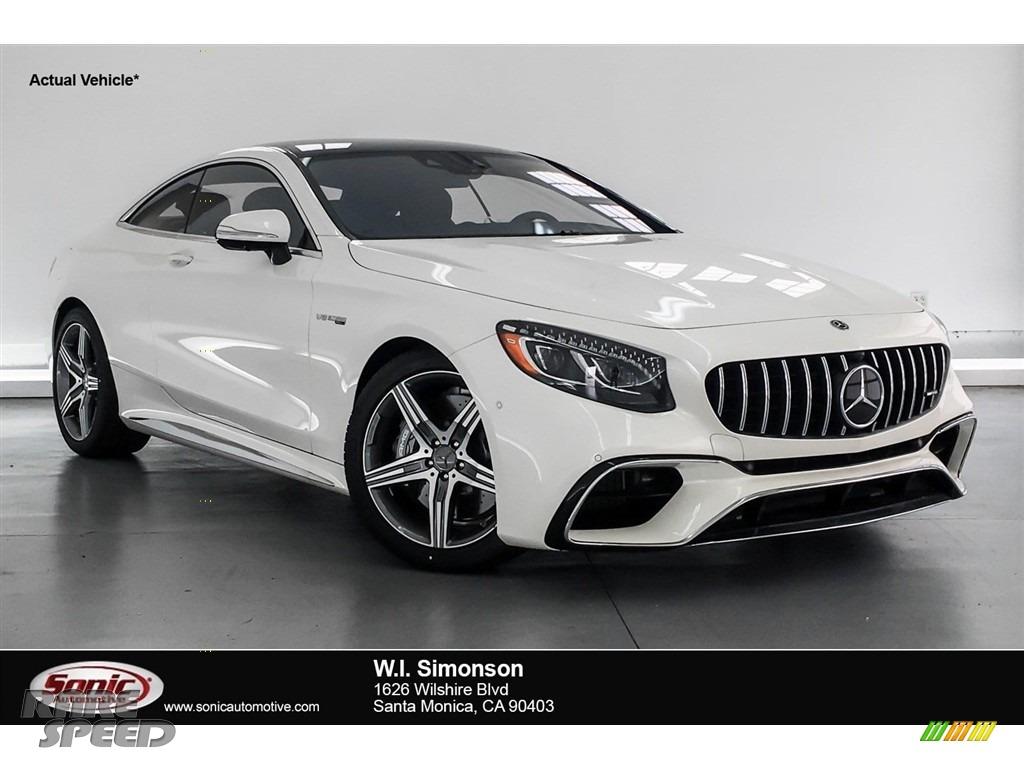 2018 S AMG S63 Coupe - designo Diamond White Metallic / Black photo #1