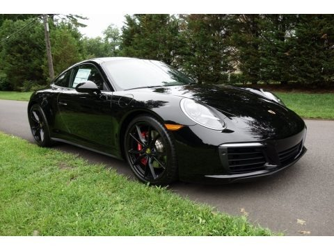 Black 2018 Porsche 911 Carrera 4S Coupe