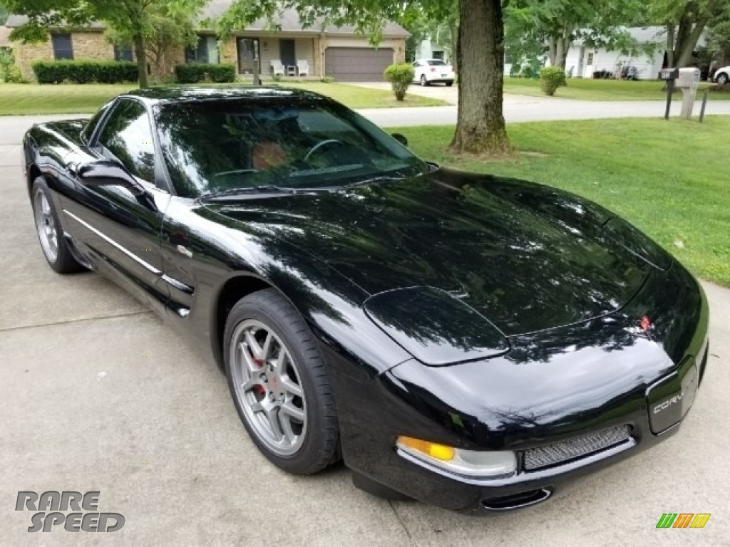 2002 Corvette Z06 - Black / Torch Red photo #1