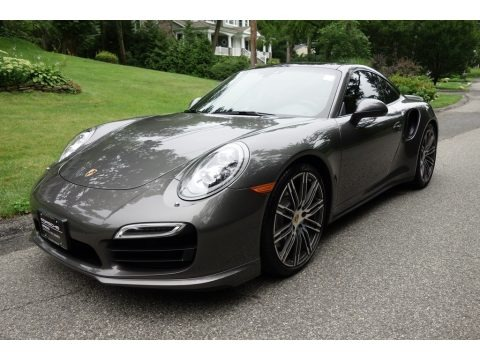 Agate Grey Metallic 2015 Porsche 911 Turbo Coupe