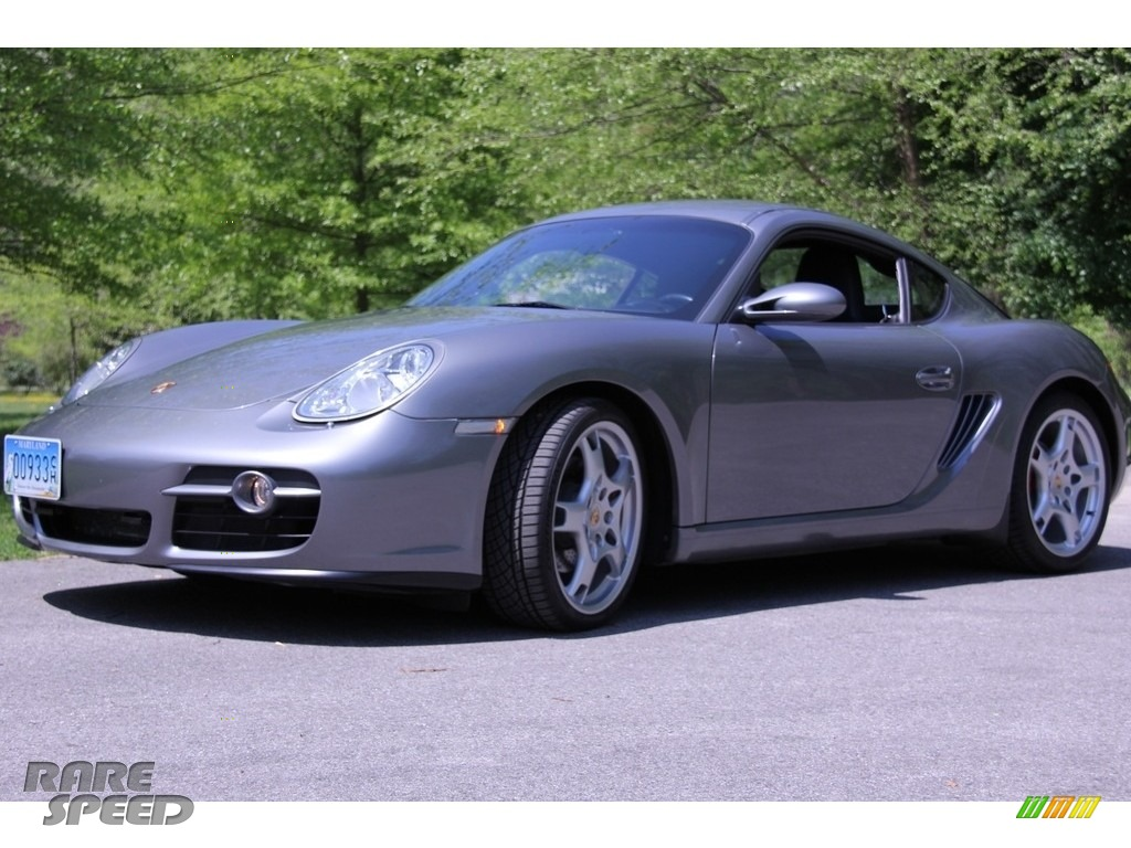2006 Cayman S - Atlas Grey Metallic / Black photo #1