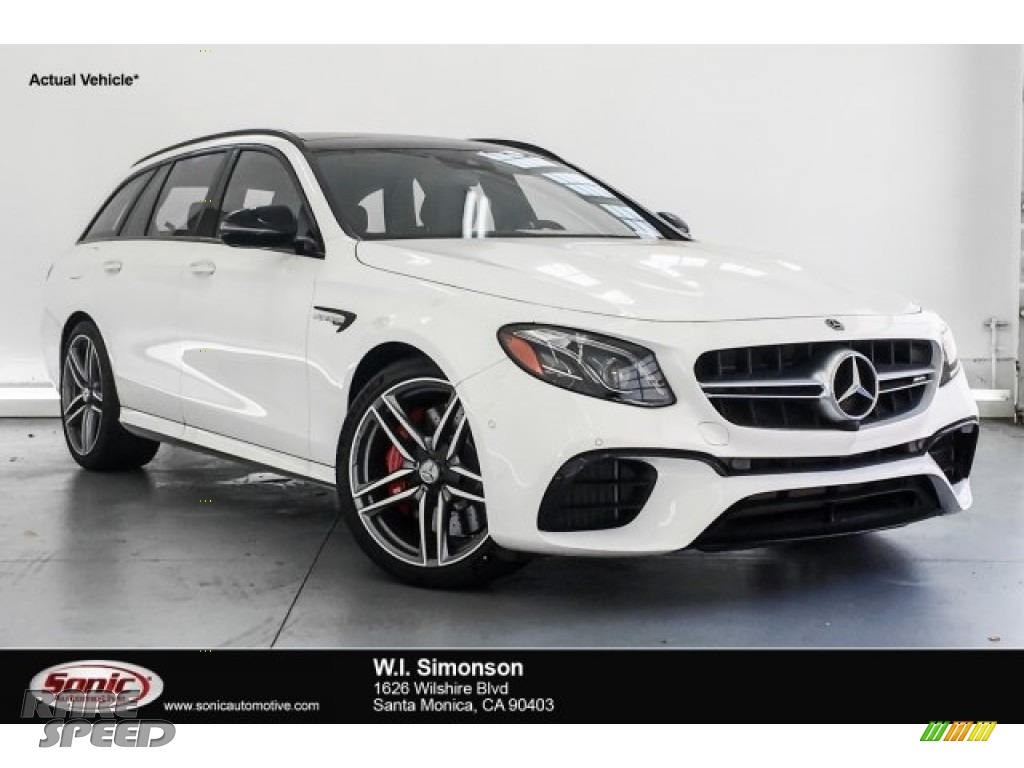 2018 E AMG 63 S 4Matic Wagon - Polar White / Black photo #1
