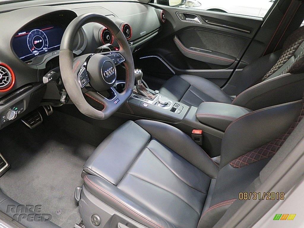 2018 RS 3 quattro Sedan - Nardo Gray / Black/Crescendo Red photo #15
