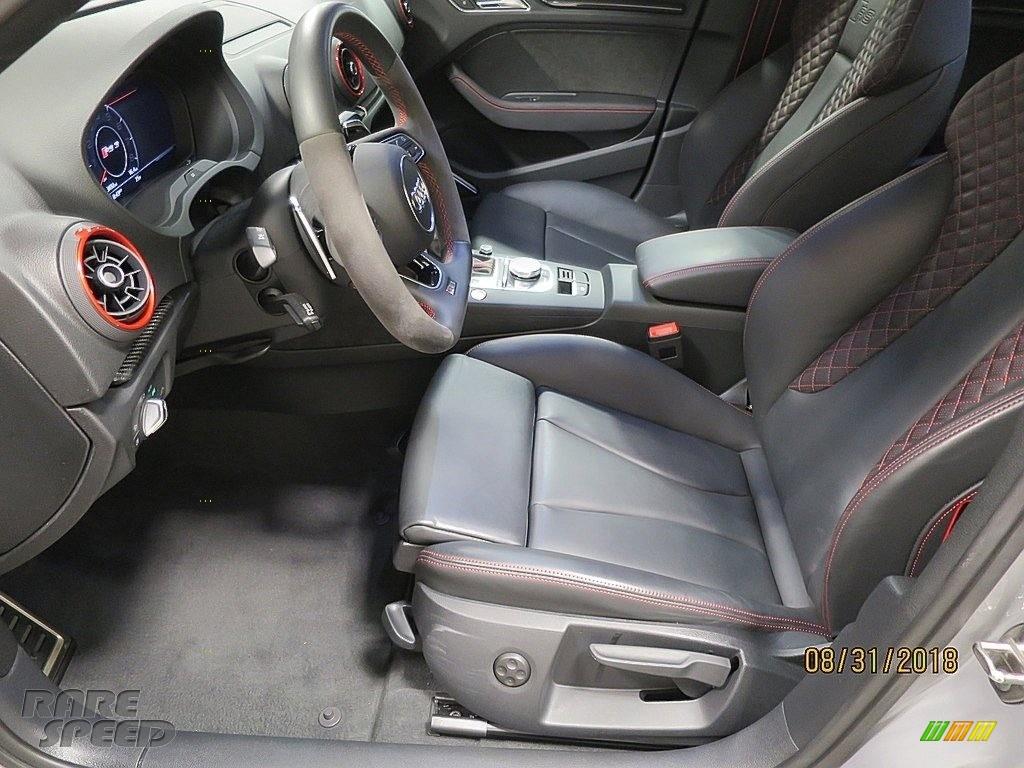 2018 RS 3 quattro Sedan - Nardo Gray / Black/Crescendo Red photo #16