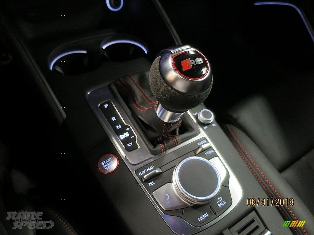 2018 RS 3 quattro Sedan - Nardo Gray / Black/Crescendo Red photo #27