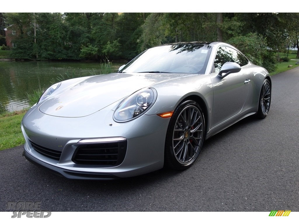 2017 911 Carrera 4S Coupe - GT Silver Metallic / Black photo #1
