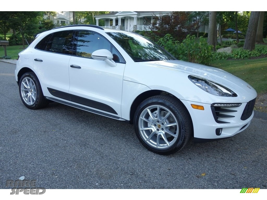 2018 Macan S - White / Black/Garnet Red photo #1