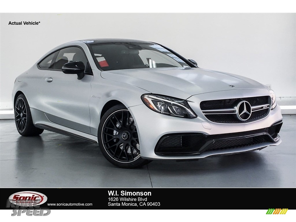 2018 C 63 AMG Coupe - designo Iridium Silver Magno (Matte) / Black photo #1
