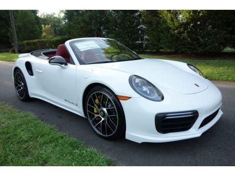 White 2019 Porsche 911 Turbo S Cabriolet