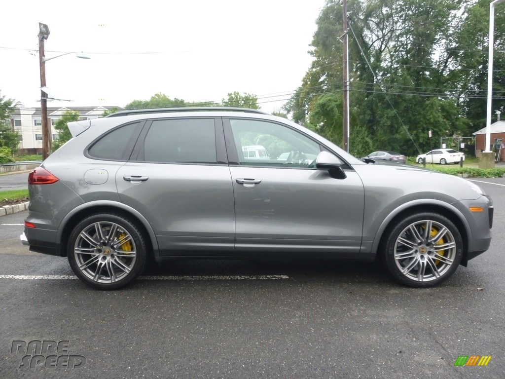 2016 Cayenne Turbo S - Meteor Grey Metallic / Black/Garnet Red photo #6