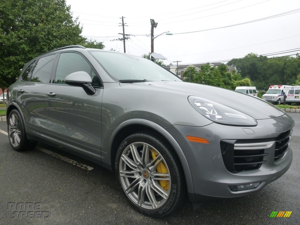 2016 Cayenne Turbo S - Meteor Grey Metallic / Black/Garnet Red photo #7