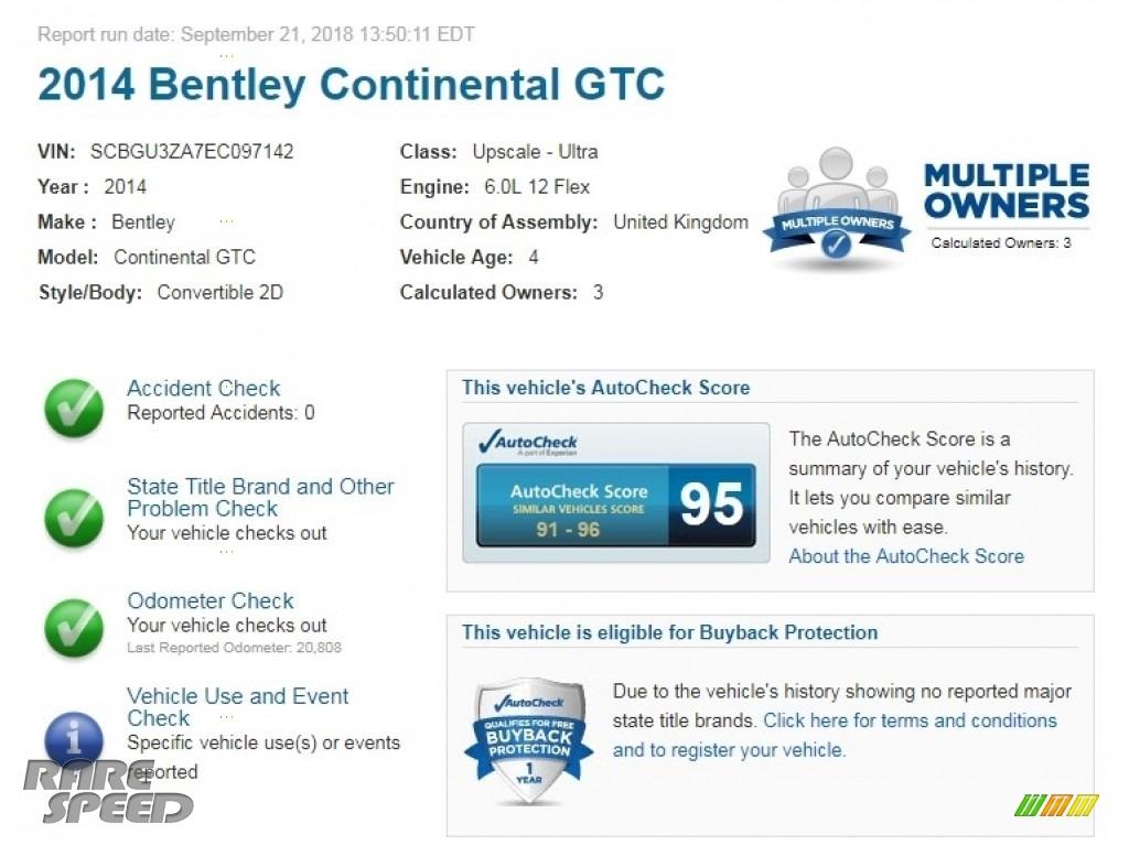 2014 Continental GTC  - Dove Gray / Magnolia photo #2