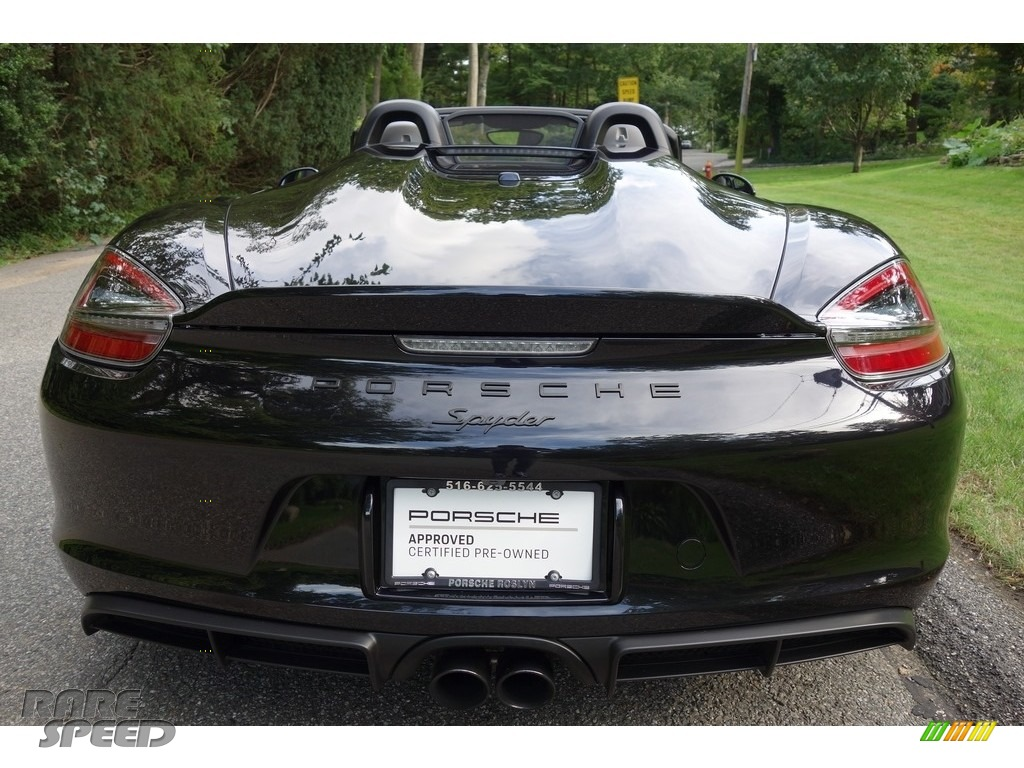 2016 Boxster Spyder - Black / Black photo #5