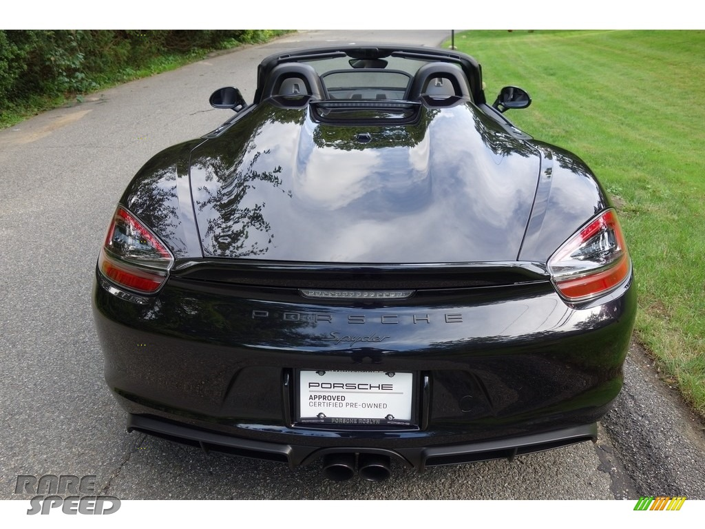 2016 Boxster Spyder - Black / Black photo #6
