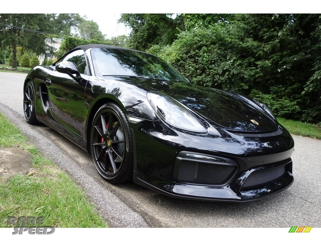 2016 Boxster Spyder - Black / Black photo #9